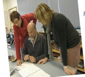 Ellen Cornish and Don Jordon at work